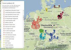 Die Futsal Landkarte DE nimmt erste Formen an