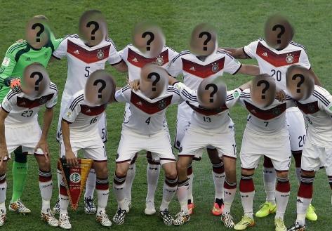 Die deutsche Fußball-Nationalmannschaft vor dem Finale der FIFA