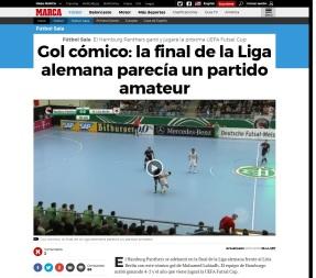 Fútbol Sala- Gol cómico- la final de la Liga alemana parecía un partido amateur Marca.com